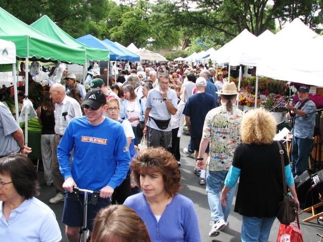Diablo Valley Farmers' Market: Saturday crowd