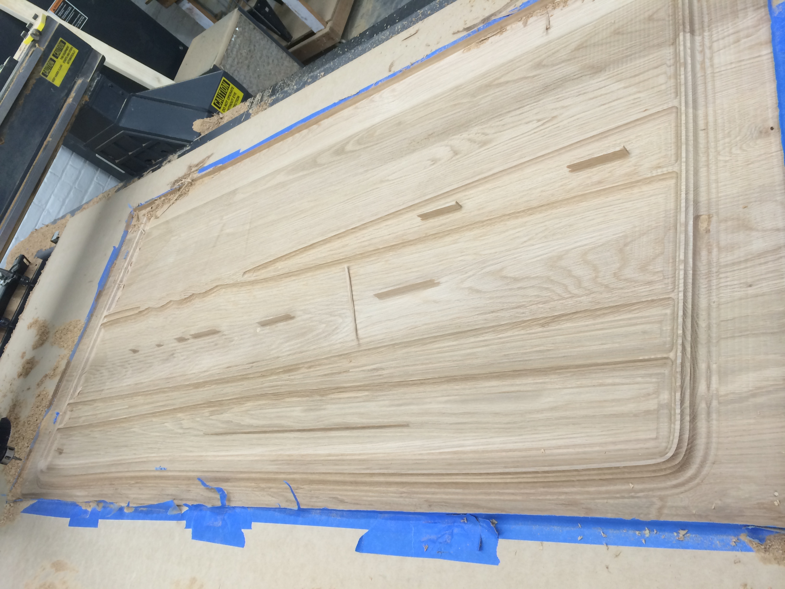 Cutting complex joinery from single solid wood panel(Jason Miller Studio).