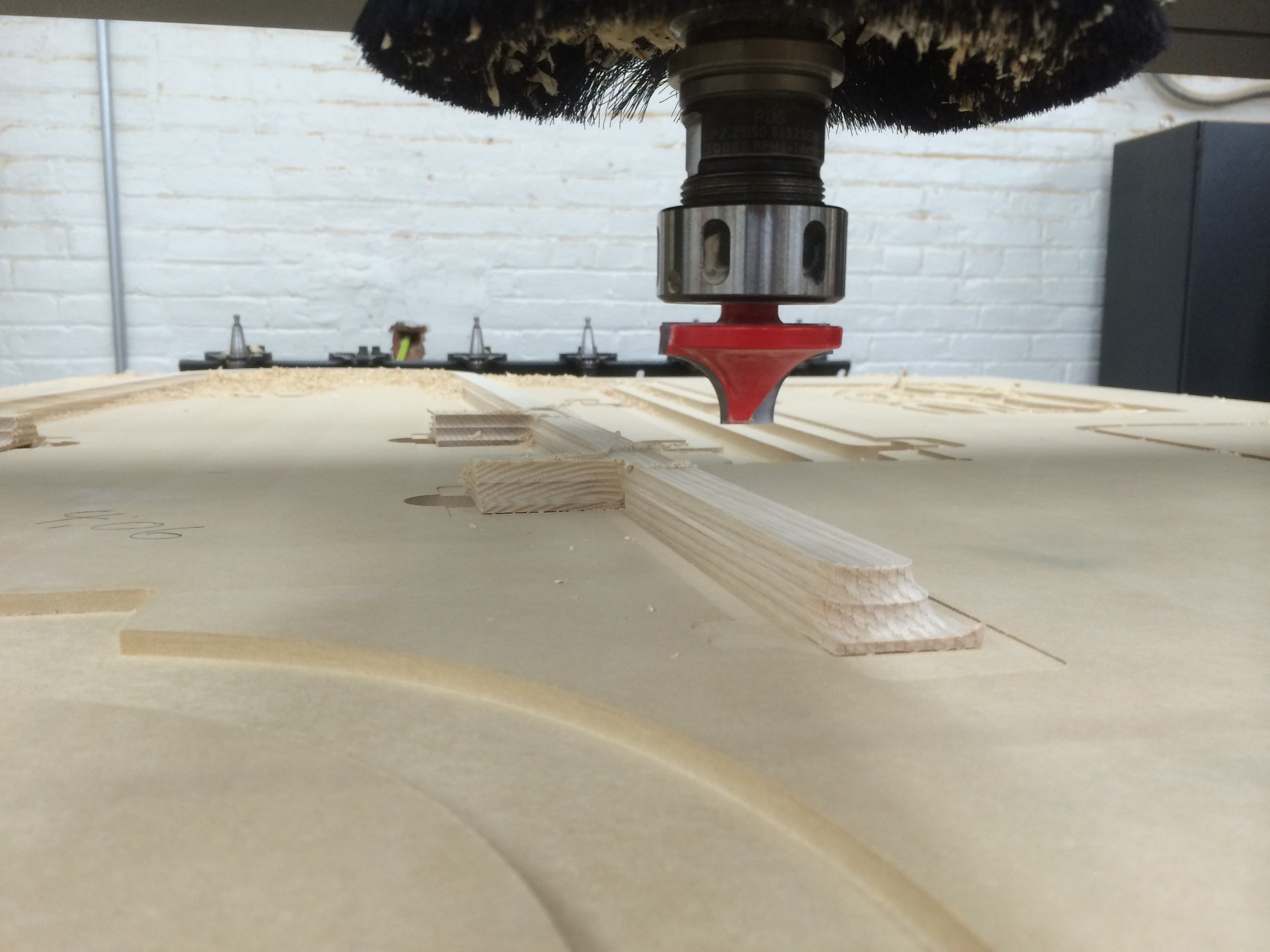 Rough milling ladder parts (Christopher Specce).