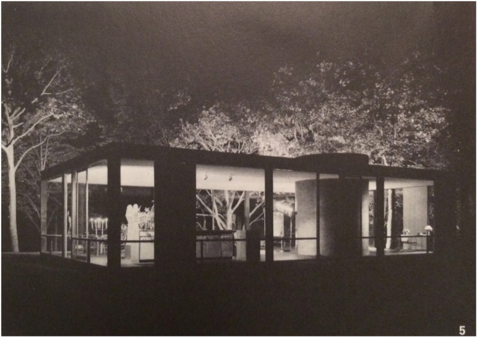 Richard Kelly lighting Philip Johnson's Glass House