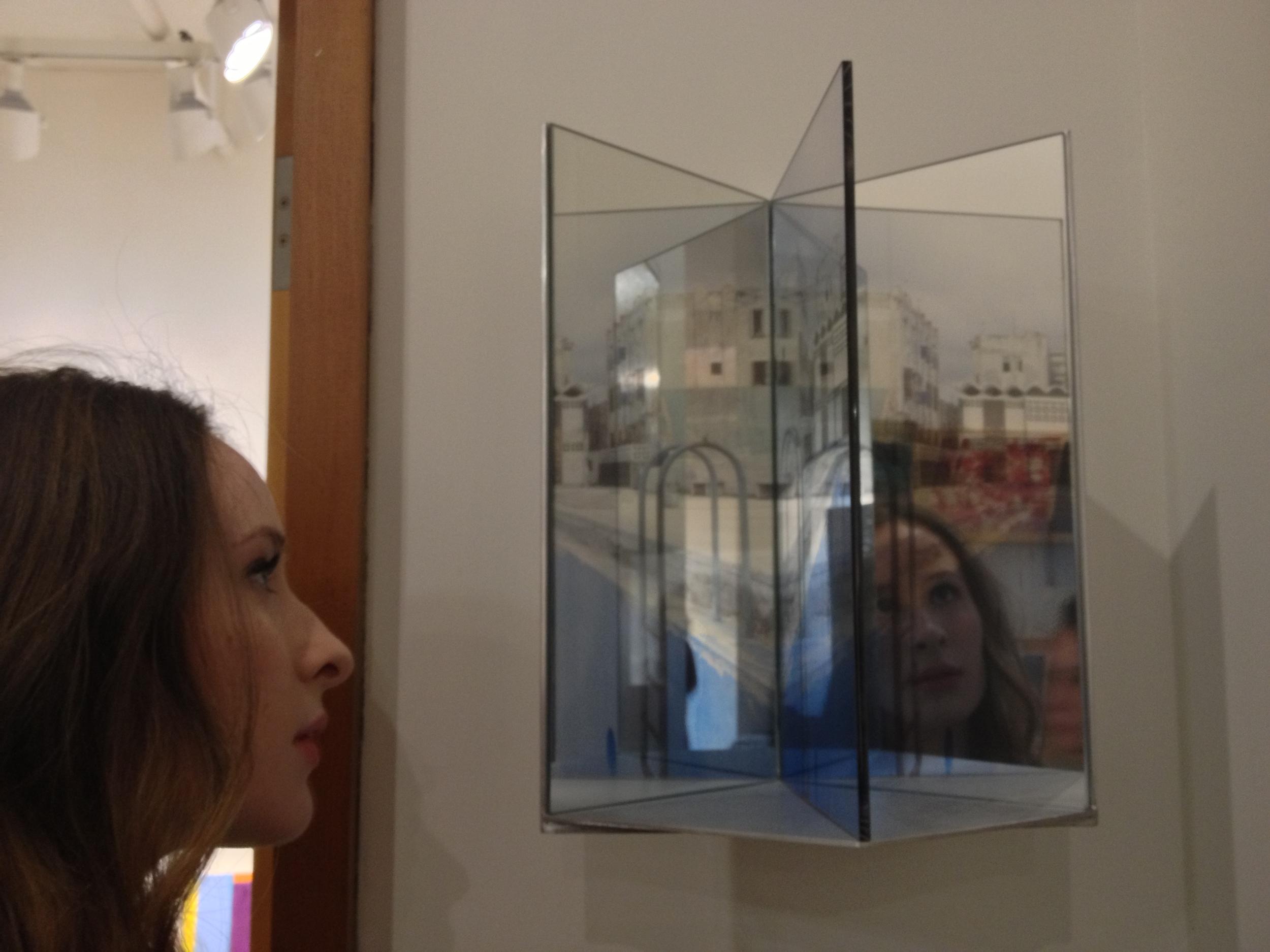 Susan Leopold artwork reflecting back image of viewer