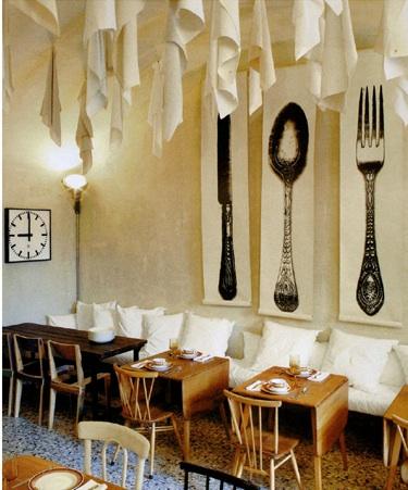 Paola Navone  Pane e Acqua Restaurant, Milan
