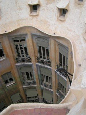 Courtyard of Gaudi residence in Barcelona