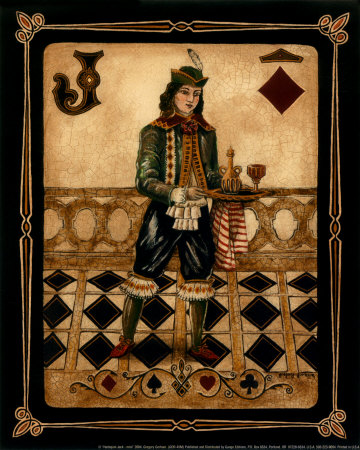A  deck of playing cards  depicting ad stone floor