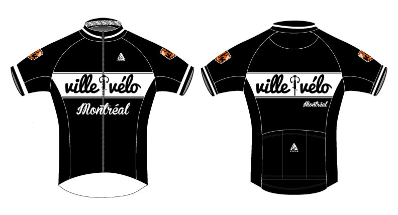 This is a team jersey for a vintage bicycle shop in Montreal, Quebec!
