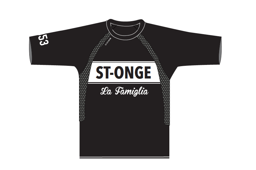 We made this long sleeve jersey for Vélo St-Onge's downhill team!
