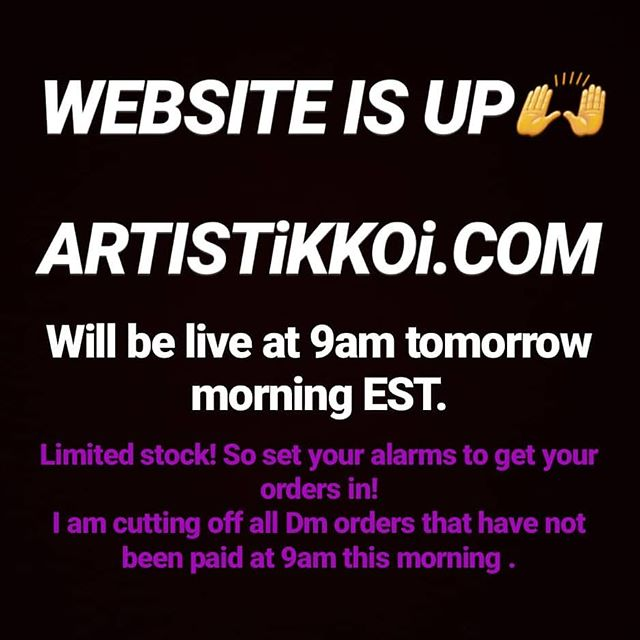 "Yaass🙌🙌🙌🙌🙌🙌🙌🙌🙌🙌🙌🙌 its up and will be stocked with all the  flames and going live at 9 am tomorrow morning! ArtistiKKoi.com I will not sleep till its finished!! Right now we only have the Flame Pack up for a demo to test site. All color options will be up. New items will be up too! . . **MAKE SURE YOU ARE USING THE MOST CLEAR ACRYLIC ON THE MARKET TO CAP YOUR FLAMES @valentinobeautypure!! . . ALSO THEIR COLORED ACRYLIC IS SO PIGMENTED,  YOU ONLY NEED THE THINNEST LAYER, SO PERFECT FOR LAYERING. USE MY  CODE ""KOi"" FOR 10% OFF THEIR PRODUCTS, EVEN THE SALE PRICES!! VISIT THEM ONLINE *VALENTINOBEAUTYPURE.COM* . . I tried to keep up with the DMs but it was so confusing and so hard, and some people were down right mean, if I couldn't respond right away. Any client can comment and tell you that I work insane hours,  back to back, no lunch break, no breathing room, until almost midnight sometimes. I am so happy and grateful, but wheeewww, now I can just open the site and print out the shipping info🙌🙌🙌🙌😭😭😭😭🤗🤗🤗🤗🤗🤗🔥🔥🔥🔥🔥🔥🔥🔥🔥🔥🔥🔥🔥🔥🔥🔥🔥🔥🔥🔥🥰🥰🥰🥰🥰🥰🥰🥰🥰🥰🥰🥰🥰🥰 . . . . . . . . . . . . . . #flames #koiflamegang #flamenailart #flameart#flamegang#TeamValentino #nailart # #ValentinoBeautyPure"