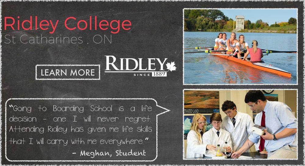 Ridley College Boarding School Testimonial