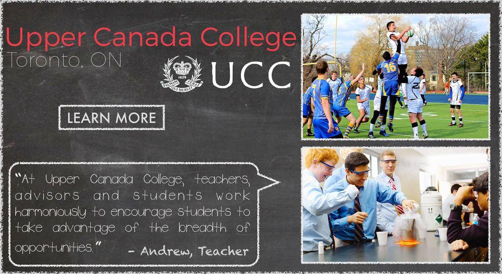Upper Canada College Boarding School Testimonial