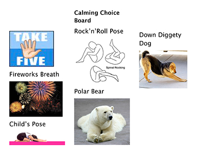 A few calming yogakids pose choices