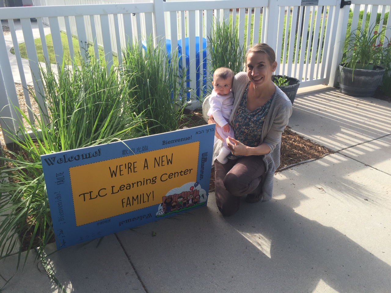 TLC celebrates all of our families! Recently we welcomed new Speech Therapist Grace to our staff, and her daughter Daphne to our infant room