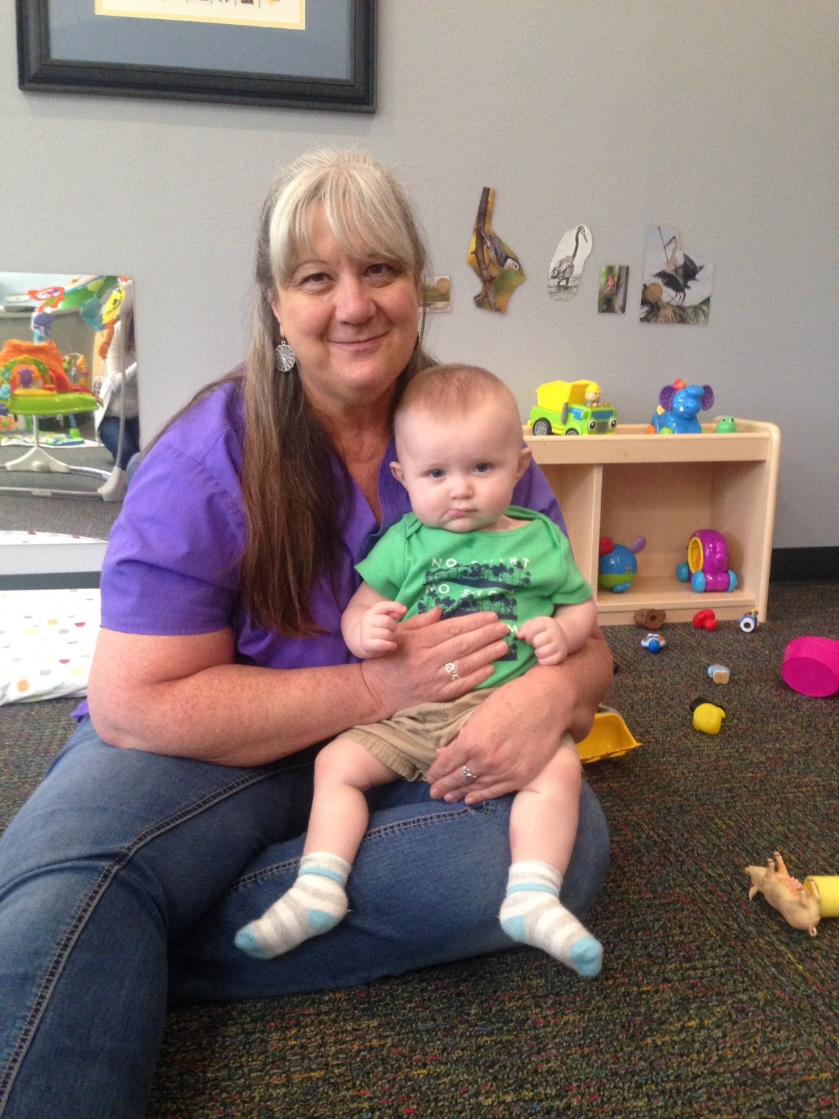 TLC Infant Lead Teacher Debbie Van Thuyne with a friend