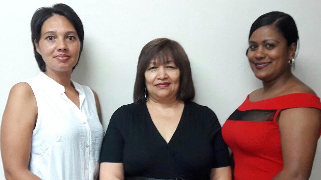 Thermopac's Customer Care Team from left: Charne Yokim, Jenny Khan and Cheryl Hendricks.