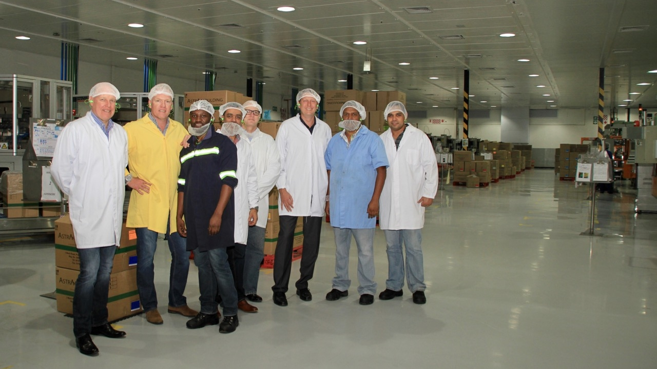 PHOTO: From left Robin Moore (CEO), Craig Schaffler (Technical Executive), Zamani Chonco (Technical Manager), Nawaaz Kalick (Group Procurement and Supply Executive), David Kelly (Financial Executive), Peter Berg (Project Manager), Anesh Mohanlall (Operations Manager), Tyrone Nadasen (Quality Manager).