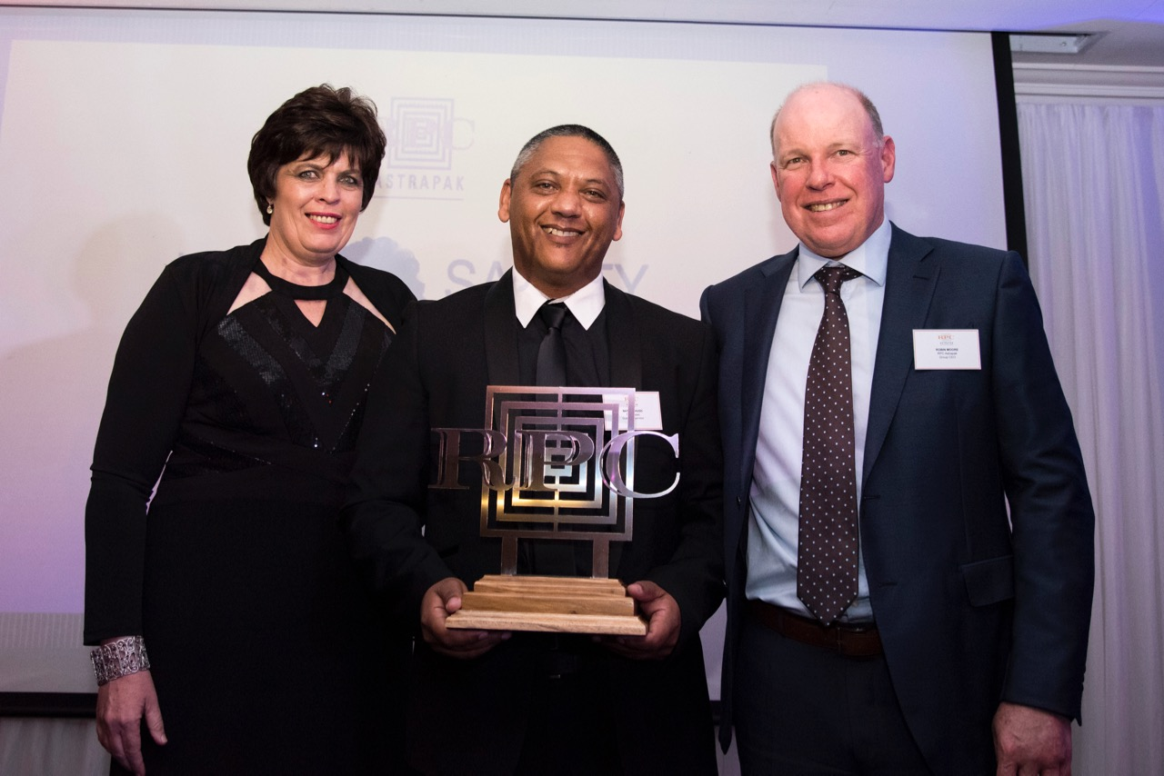 HEALTH & SAFETY:Most Promising Quality Talent  winner Nathan Hugo from RPC Astrapak Thermopac.