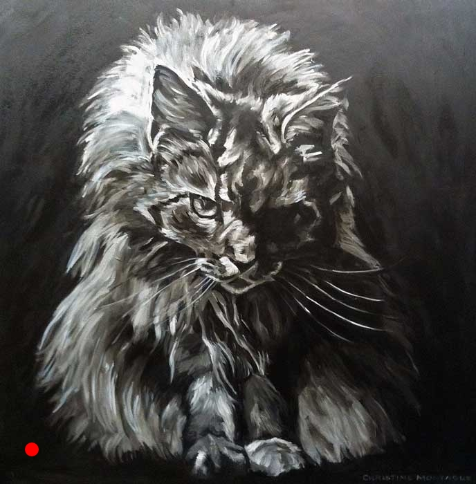 Sold. Prints & products are available. Large Scale Cat Portrait.