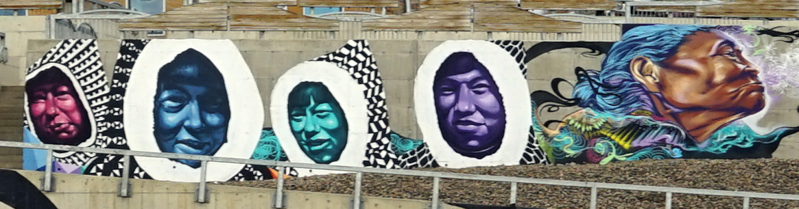 Faces. Mural. Qikiqtani General Hospital. Iqaluit. Photo: Christine Montague