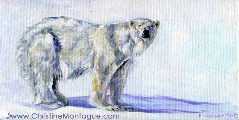 Sold. Polar Bear Painting- Intelligent Bear.