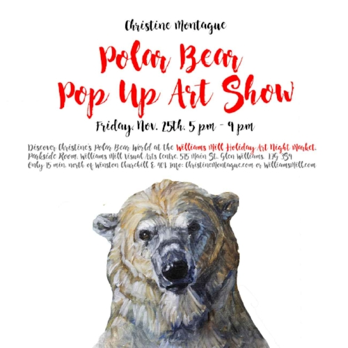 Thank you to everyone who attended my polar bear art pop up show at the Williams Mill.