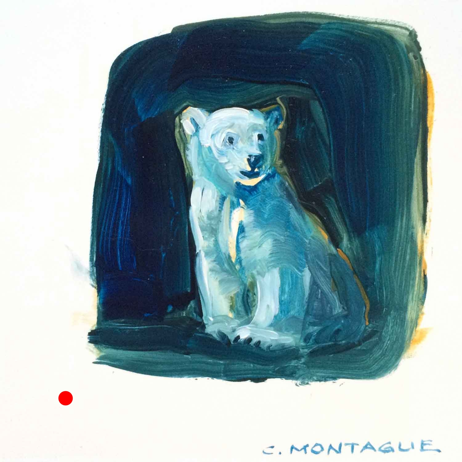 Sold. Polar Bear Cub Painting 4