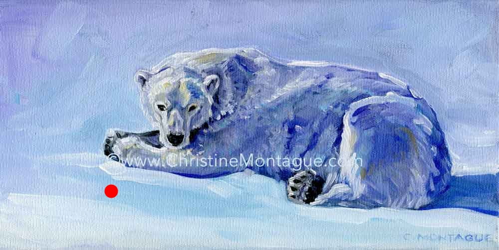 "Sold. Polar Bear Painting ""Mauja"""