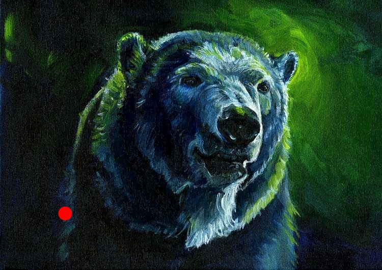 Sold. Polar Bear Art: Free Spirit