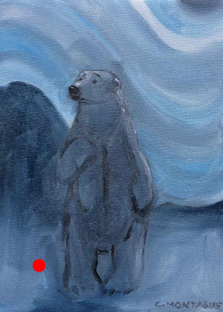 Polar Bear Painting- Who Me? Sold.