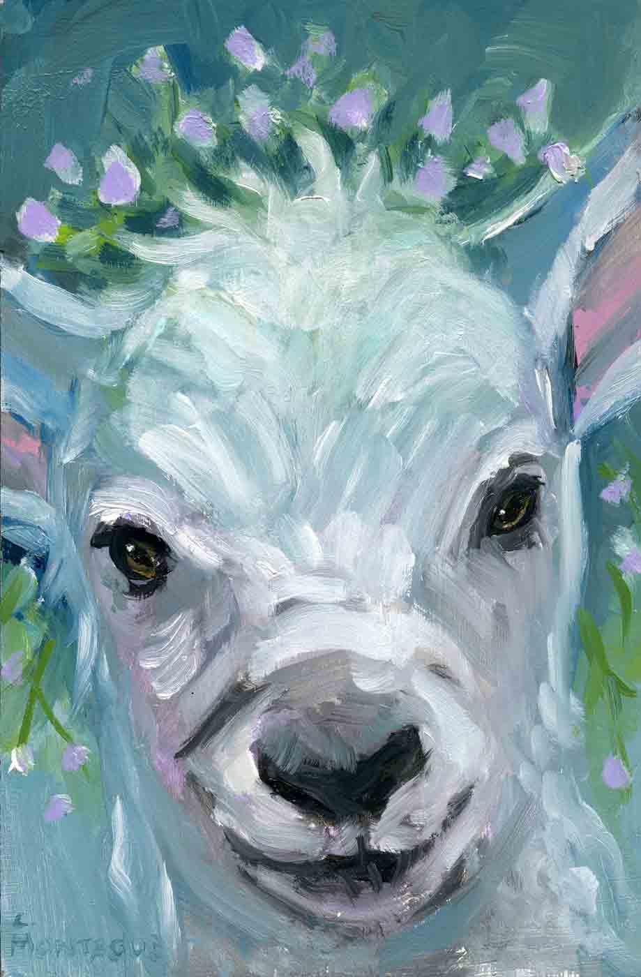 Lamb Flower Crown