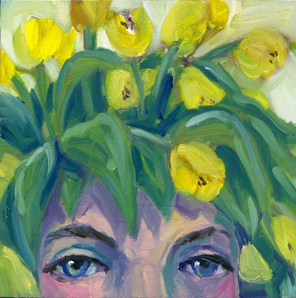 New! Flower Child Yellow Tulips