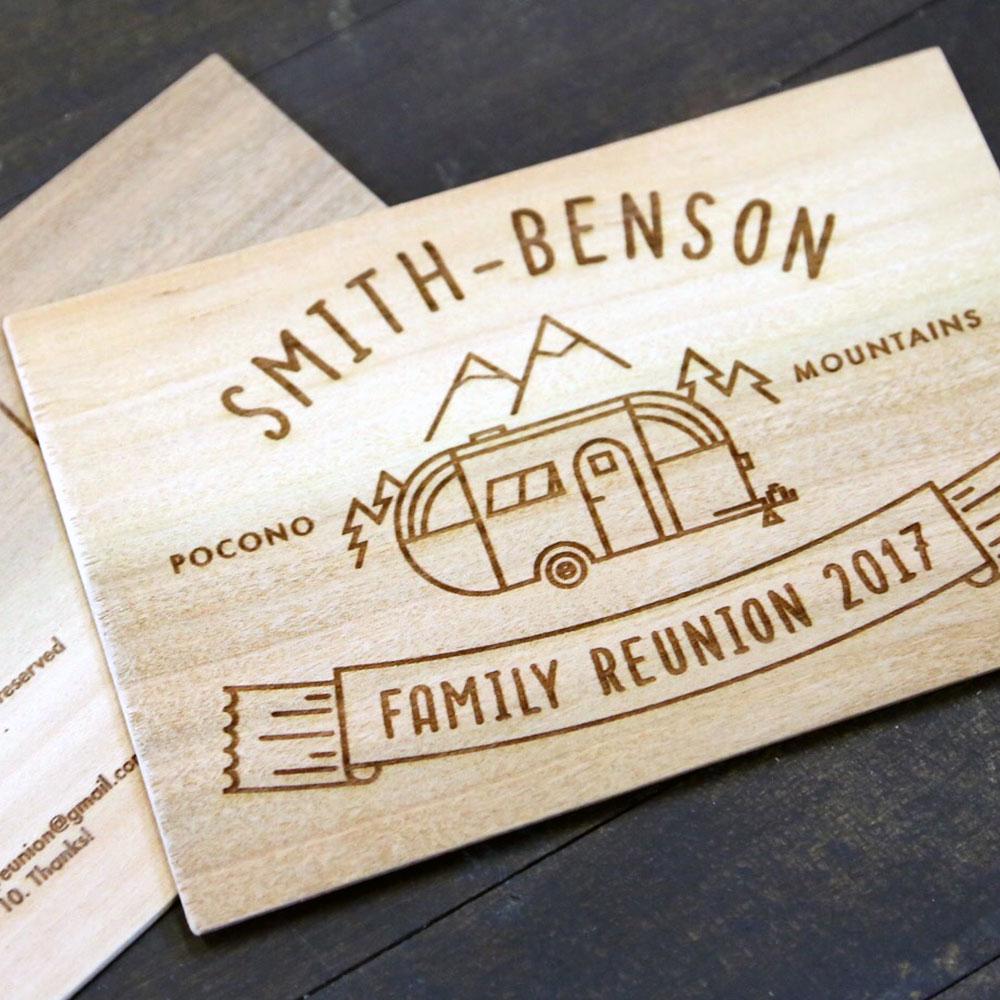 Engraved Wood Postcard