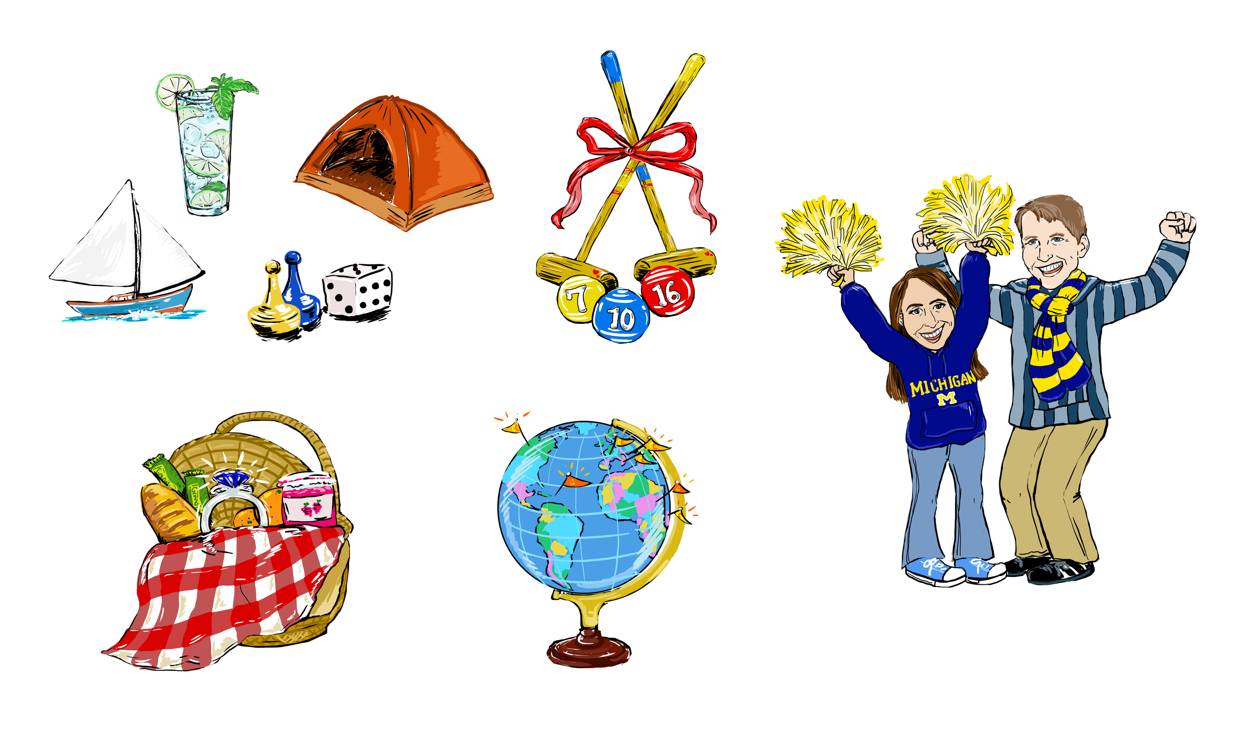 Various icons from the site