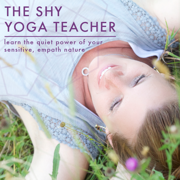 the shy yoga teacher ecourse