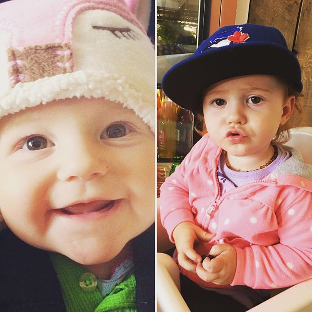 What a difference a year makes. 6 months/18 months. #littlelove #firecracker