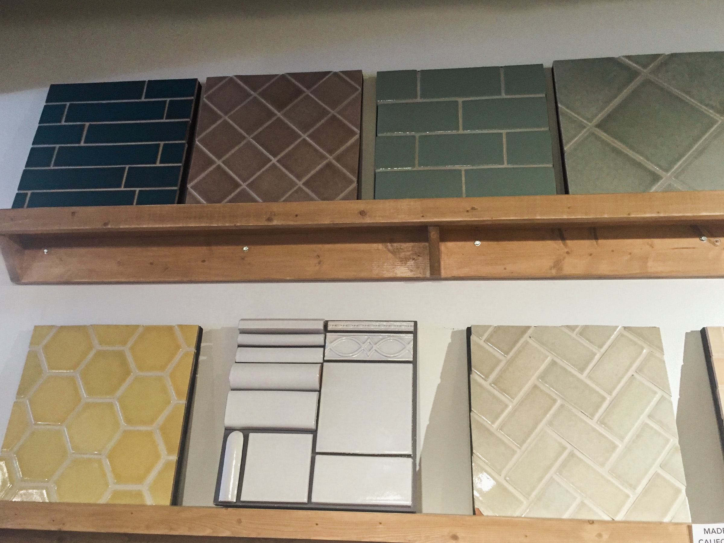 Shopping for tile with Emily at  Honest Home  in Nulu. The options were both overwhelming and exciting!
