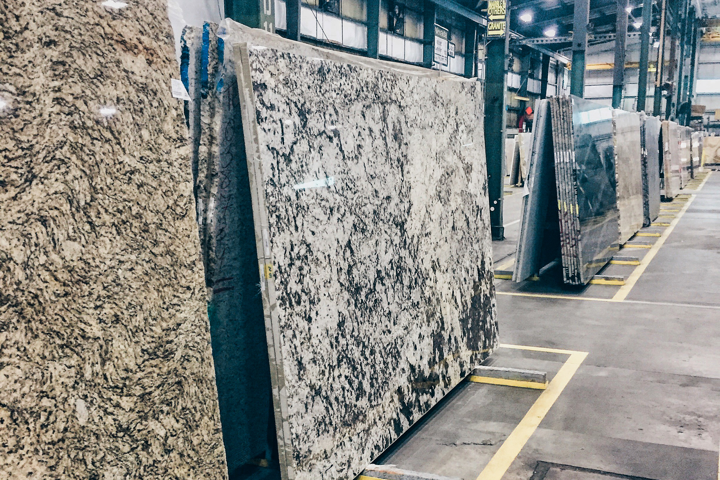Shopping for our kitchen countertops. This was really cool.  So many options at Global  Granite and Marble .