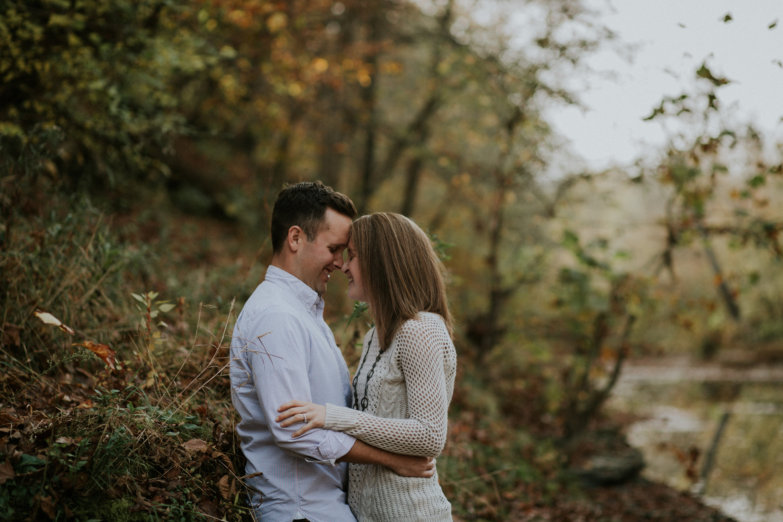 Bride and Groom to be had a beautiful fall engagement session in southern Indiana