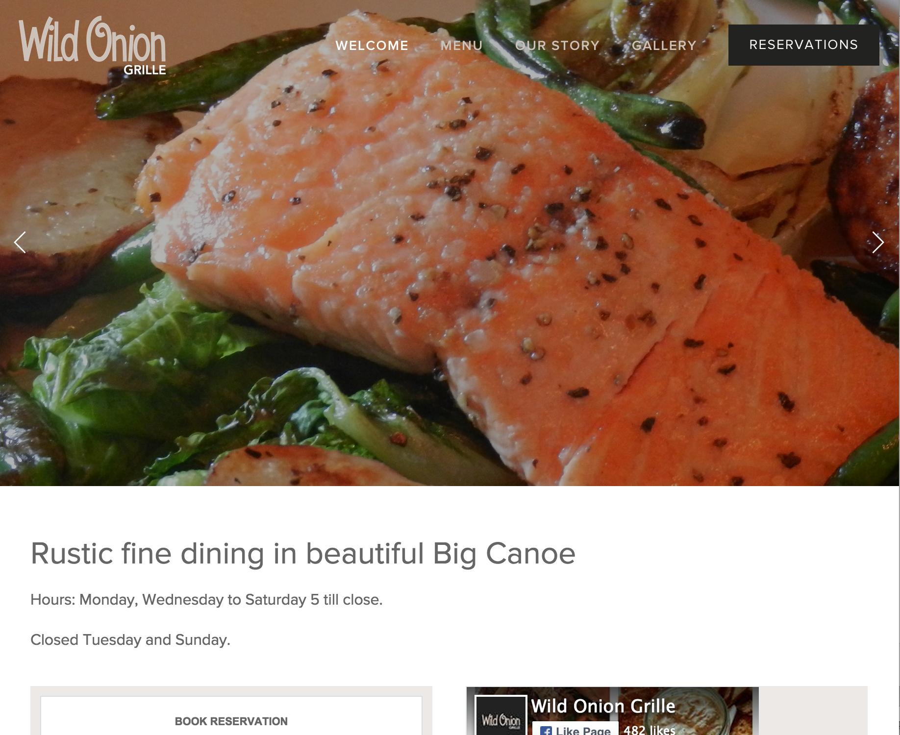 Wild Onion Grille Website