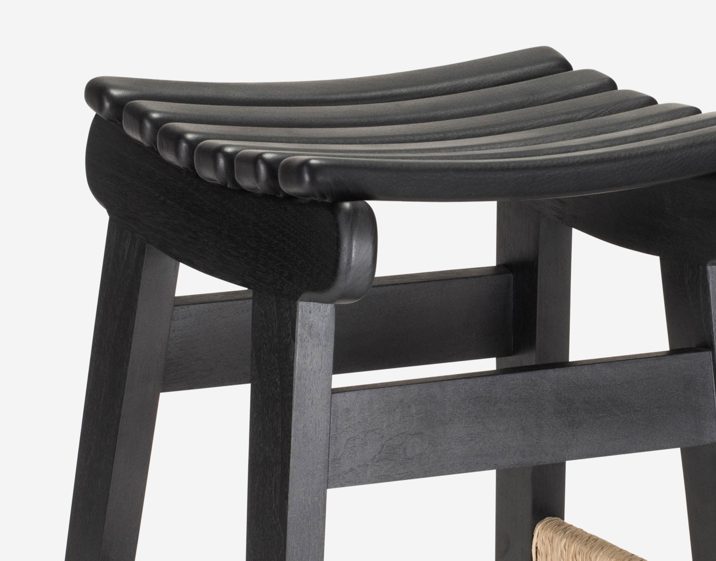 Luteca_MvB_San Miguelito-Counter-Stool_Black Oil Walnut-Black-Leather_D-W.jpg