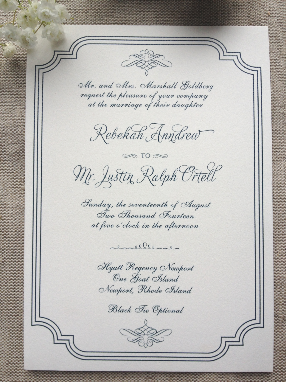 Traditional Invitation with Navy Thermography2.png
