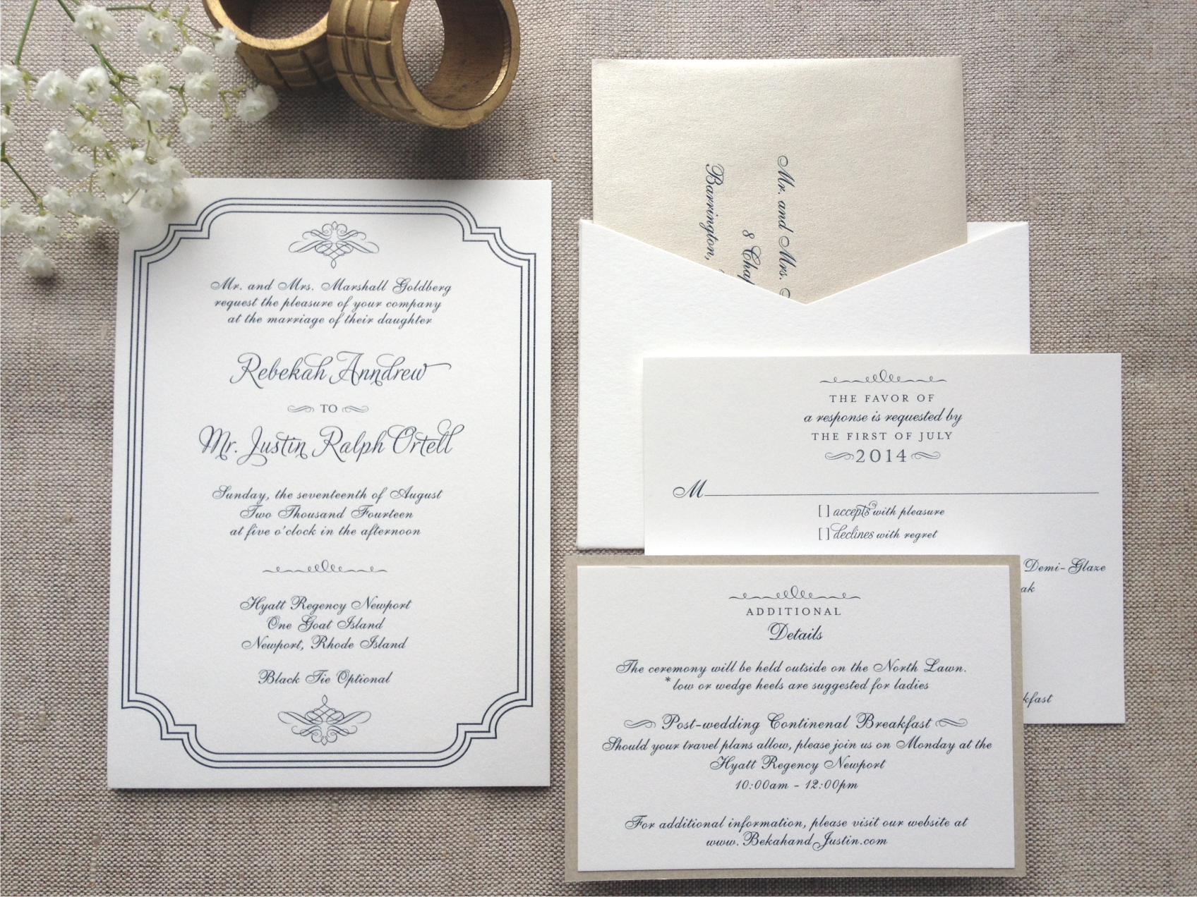 Traditional Invitation with Navy Thermography.png