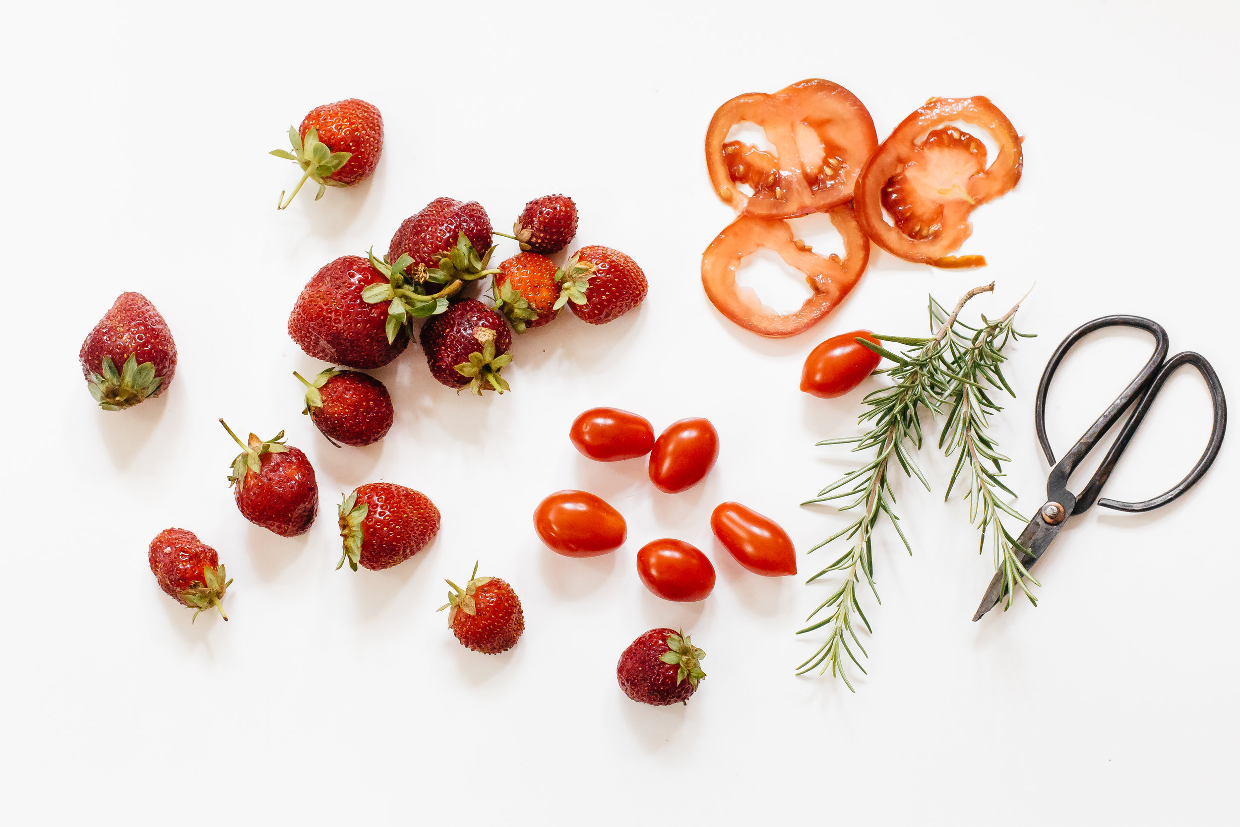 tomatos, strawberrys, thyme, and scissors.jpg