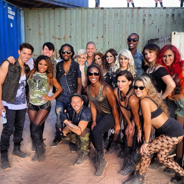 "Wisin's ""Que Viva La Vida"" Music Video Shoot- Choreography by Saleemah E. Knight"