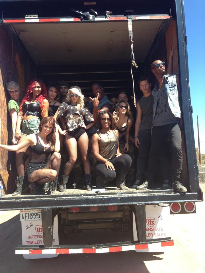 "Wisin ""Que Viva La Viva"" Music Video Shoot- Choreography by Saleemah E. Knight"
