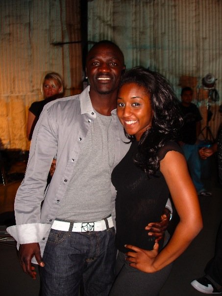 Saleemah E. Knight and Akon on set for Tami Chynn's _Frozen_ Music Video.jpg