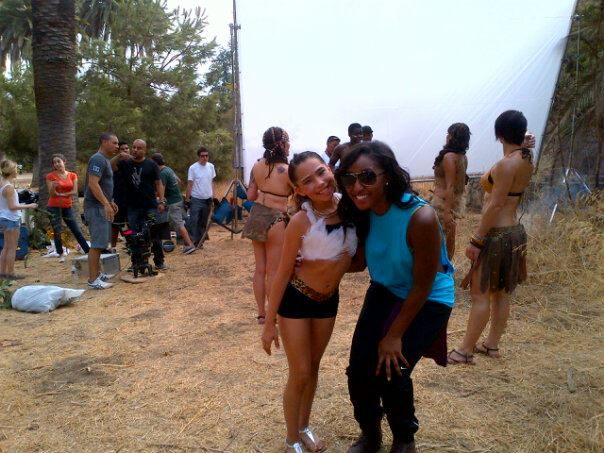 Saleemah E. Knight and Chloe Enriquez on set for the Daddy Yankee _Limbo_ Music Video Shoot.jpg
