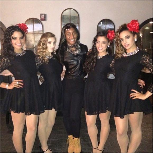 Shakira Barrera, Mindy Von Elling, Saleemah E. Knight, Samantha Abrantes and Sienna Lyons on set for Chiquis _La Mal Querida_ Music Video Shoot.jpg