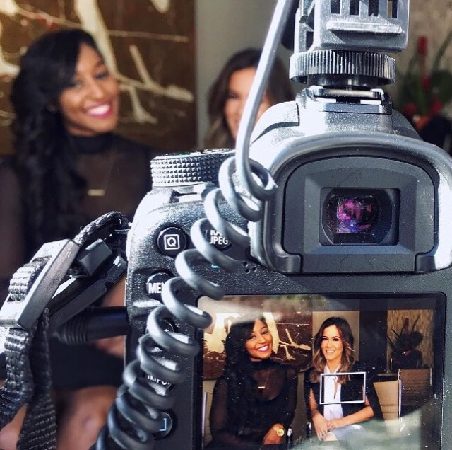 Saleemah E. Knight on camera interview with Shae Wilbur of Extra TV