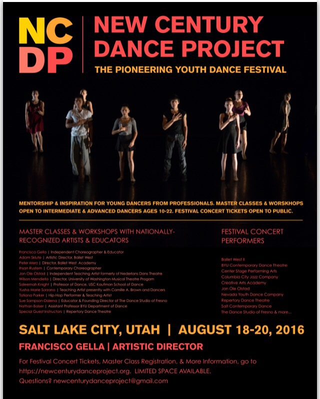 New Century Dance Project- Guest Contemporary Jazz Master Classes with Saleemah E. Knight