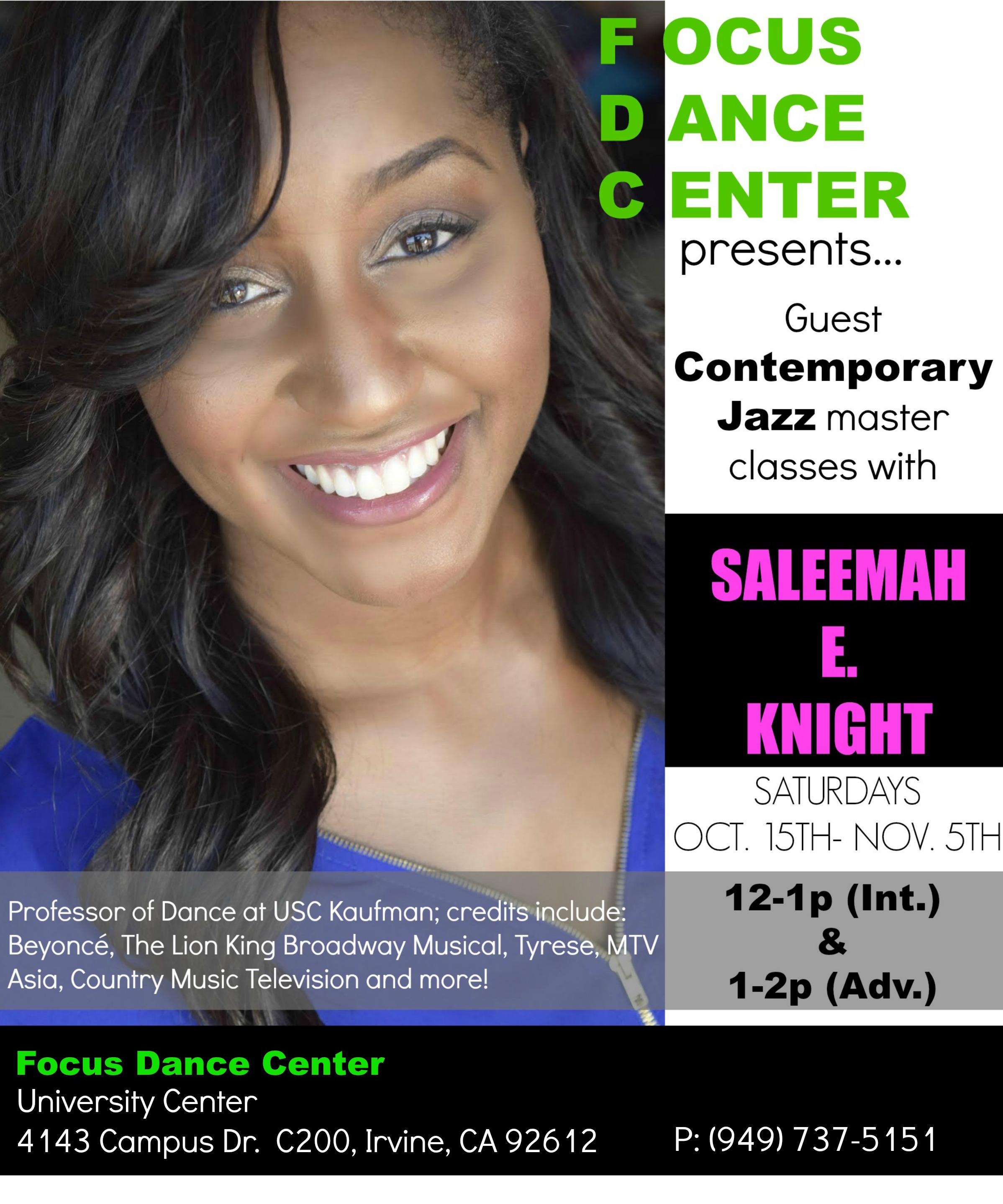 Saleemah E. Knight Guest Contemporary Jazz Master Classes