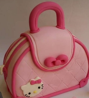 Day 3 -  Day Session .  Fondant Skills.  Have fun decorating the Hello Kitty inspired purse cake.